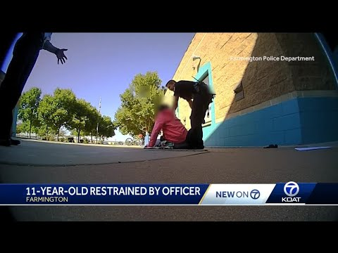 11-year-old restrained by officer caught on video