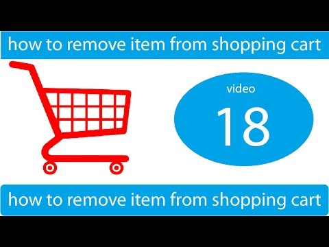 how to delete items from shopping cart