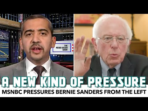 Bernie Gets Uncomfortable As MSNBC Pressures Him From The Left