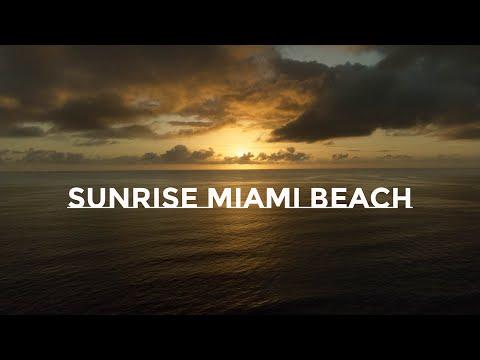 Sunrise surf session at Miami Beach