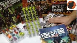 DAY 2 Распаковка дополнения Toxic City Mall (Zombicide Toxic City Mall unboxing - russian version)