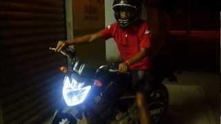 preview picture of video 'Yamaha Fazer 2012 com fita de Led no Farol - Carlos Augusto'