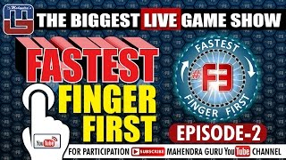 F3  Fastest Finger First  Episode 02  18th January 2017  F3 Live Every Wednesday At 10 AM