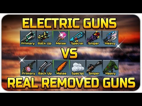 Pixel Gun 3D - Electrical Weapons VS Removed Realistic Weapons