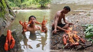 หากุ้งยักษ์ ล็อบสเตอร์ แม่น้ำในพม่า!!! - dooclip.me