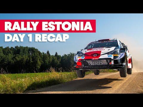 WRC 2021 第7戦ラリー・エストニア DAY1のハイライト動画