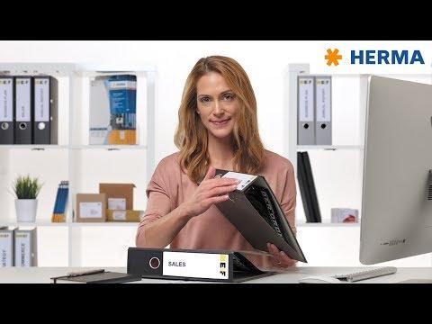 Ablösbare Ordneretiketten einfach erstellen & drucken mit den HERMA Software-Tools