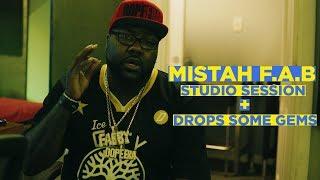 Mistah F.A.B Studio session + Speaks on Too $hort explaining the science of music