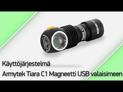 Käyttöjärjestelmä Armytek Tiara C1 Magneetti USB valaisimeen