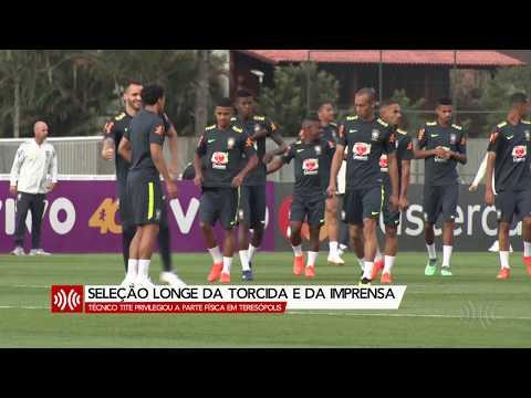 Seleção treina com discrição e distância da imprensa em Teresópolis