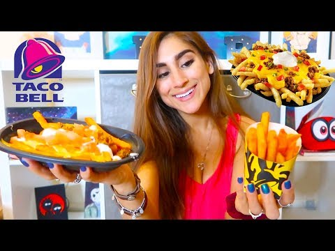 TRYING TACO BELL FRIES & SUPREME FRIES!