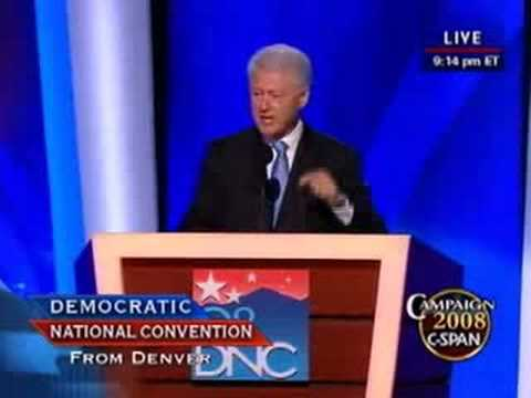 Comments on bill clintons speech at democratic national convention essay