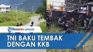Detik-detik TNI KKB Baku Tembak, Prajurit Masih Angkat Senjata saat Hidung Terkena Rekoset Amunisi