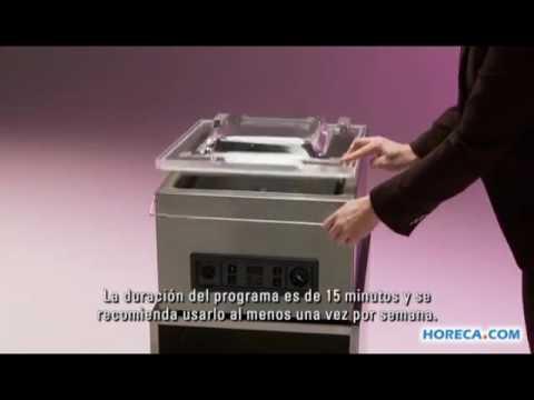 Video Henkelman Jumbo 30 envasadora al vacio de sobre mesa - Spaans