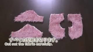 How To Make A Dog Fur Bolero Sewing Movie 02 [hand Made Dog Clothes]