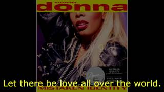 "Donna Summer - Let There Be Peace LYRICS - SHM ""Mistaken Identity"" 1991"