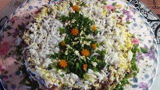"""Безумно вкусный печеночный салат """"Праздничный """"-Liver salad """"Holiday """""""
