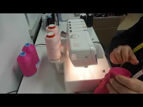 Overlock/taglia e cuci con filato testurizzato