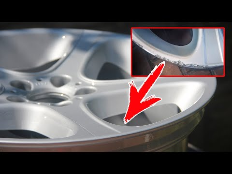 Как убрать бордюрку и царапины с диска | Реставрация колесных дисков