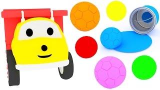 Грузовичок Игорь играет в футбол и учит цвета | Обучающий мультфильм для детей на русском