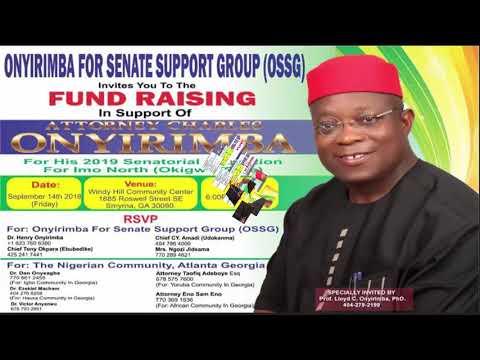 Onwa For Okigwe Zone Senate, Imo State.