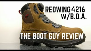 REDWING shoes #4216 Men's 6-inch Boot with B.O.A. [ The Boot Guy Reviews ]