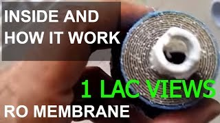 RO Membrane, Inside and how it works. teardown of reverse osmosis water filter