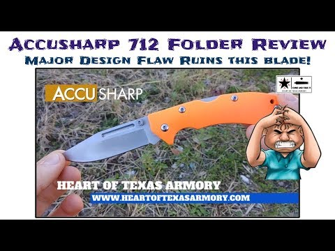 One design flaw ruins this knife! – Accusharp 712 Folding Knife Review