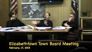 preview picture of video 'Elizabethtown, NY, February 17,  2015 Town Board Meeting'