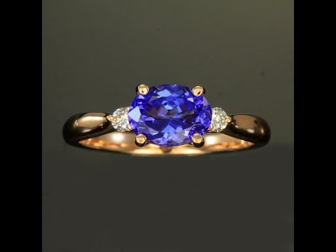 Tanzanite Ring in Rose Gold 1.58 Carats