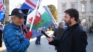 Interviewing Remainer Protesters at Parliament
