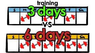 Training 3 Days vs 6 Days | How Many Days Should You Workout?