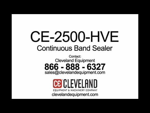 CE-2500-HVE Continuous Band Sealer CE-2500-HVE Continuous Band Sealer