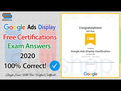 Get Certified by Google | Google Ads Display Certification Exam ...