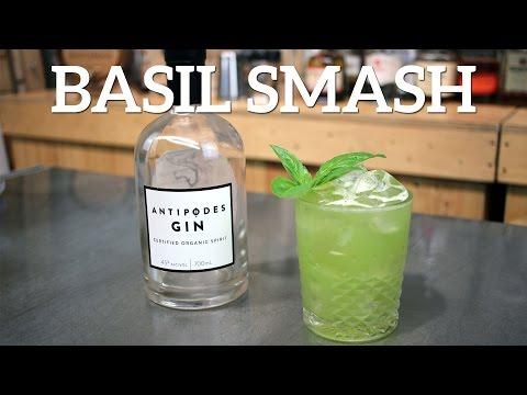 Basil Smash Gin Cocktail Recipe
