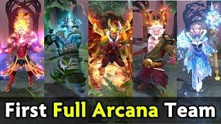 First full Arcana team on proscene — OG vs IG fastest GG of DAC