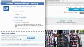 PBteen Coupon Code 2013 - How to use Promo Codes and Coupons for PBTeen.com