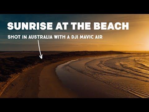 sunrise-at-the-beach--dji-mavic-air-footage-in-australia
