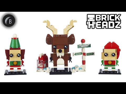 Vidéo LEGO BrickHeadz 40353 : Renne, Elfe et Elfie