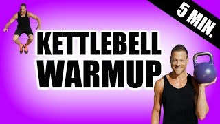 5 MINUTE WARM UP KETTLEBELL WORKOUT | Dynamic Warm Up Before Your Kettlebell Workout, HIIT, Weights by Max's Best Bootcamp