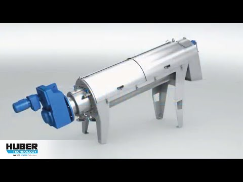 Animation: Function and components of HUBER Screw Press Q-PRESS® 440
