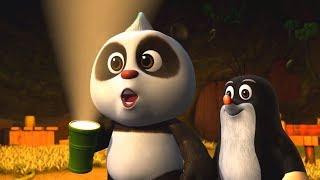 Мультики для детей - Кротик и Панда - Игры на воде + Волшебный фонарик