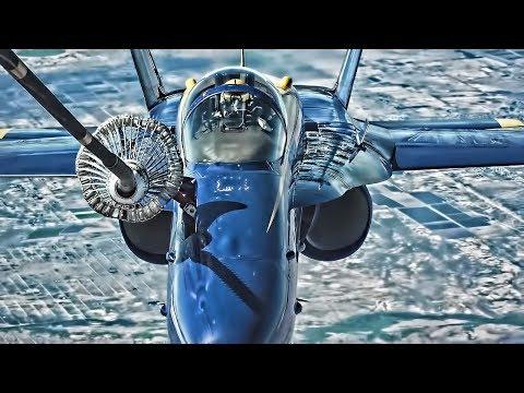 Navy Blue Angels F/A-18 Hornets Inflight Refueling (2019)