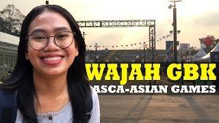 Satu Hari Pasca-Asian Games, Ornamen di GBK Mulai Dibongkar