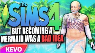 Sims 4 but becoming a mermaid was a bad idea