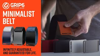 GRIP6 Web Belt | No Holes, No Flap, & Infinitely Adjustable
