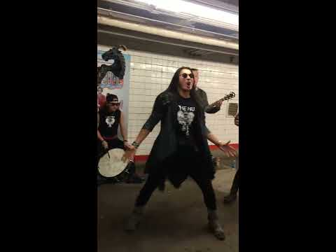 Mongolian Rock & Roll on an NYC subway platform
