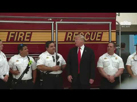 President Trump Speaks to Firefighters in Florida