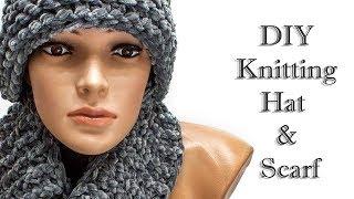 Шарф  Шапка новая идея / Hat and scarf - New Ideas
