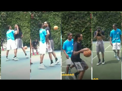 Quavo and Travis Scott almost fight in intense basketball game